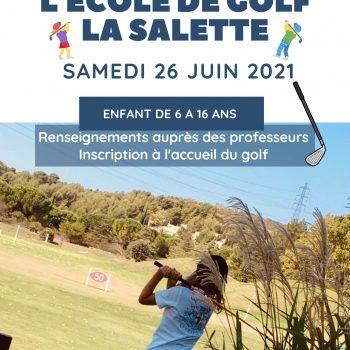 Fête de l'école de golf le 26 juin 2021 au Golf Bastide de la Salette