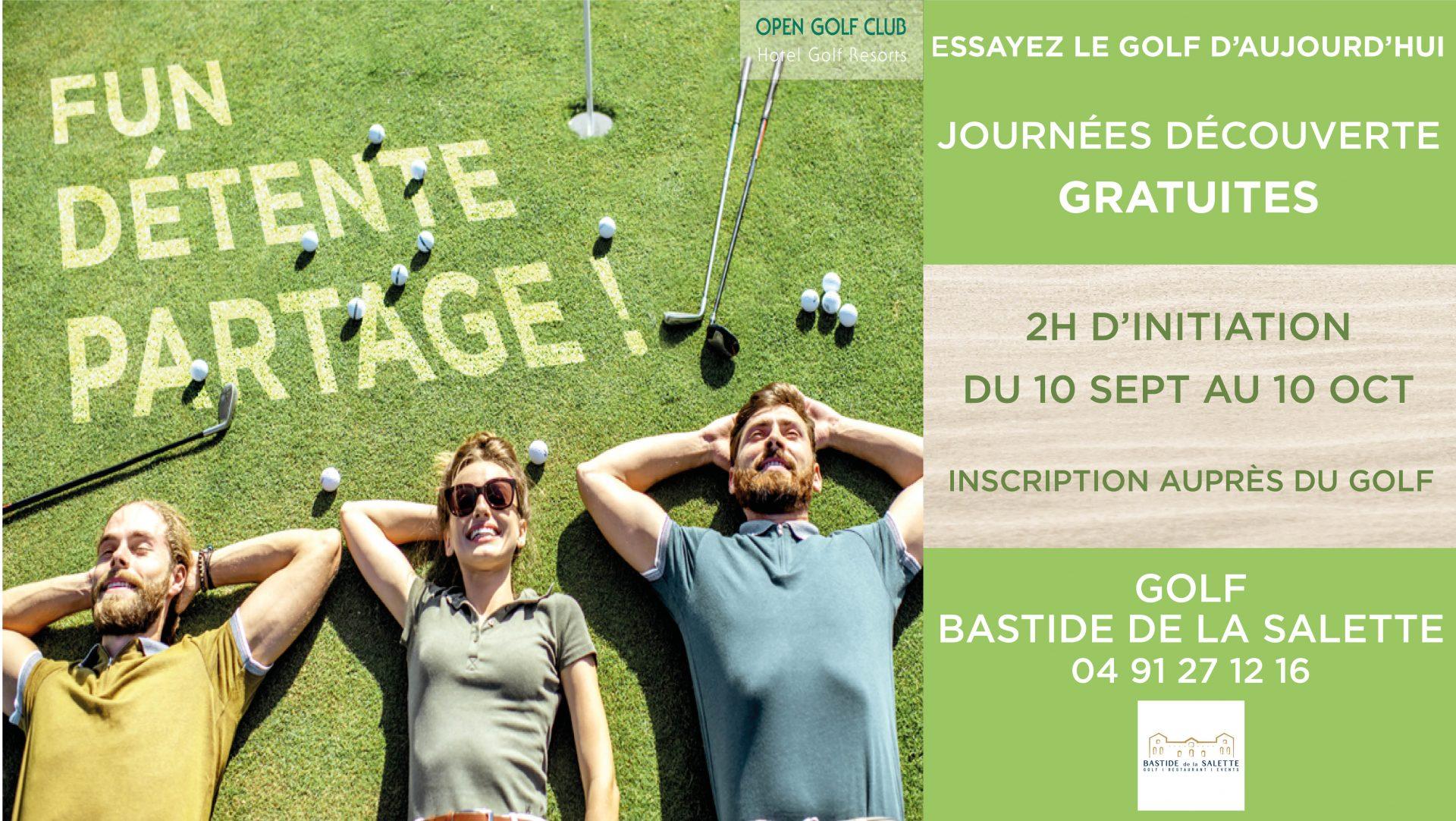 Journées Découvertes -Essayer le golf à Marseille 2021